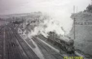 Pontypool Rd Station looking North from Road Bridge May 1962